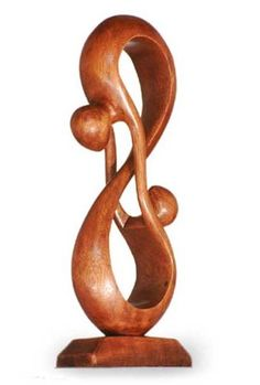 NOVICA Large Brown Romantic Suar Wood Sculpture, 15.75' Tall 'Acrobat Lovers' ** Discover this special product, click the image : Home Decor Sculptures