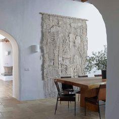 Large Weaving Macrame Wall Hanging Fiber Art by MacroMacrame