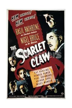 The Scarlet Claw Movies Art Print - 30 x 46 cm