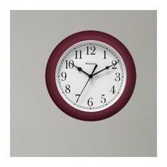 8.5 Round Wall Clock Burg, Red