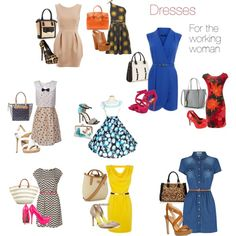 """""""dresses for the working woman"""" by africanqueen00 on Polyvore"""