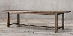17th C. Spanish Monastery Rectangular Dining Table - Waxed Brown | Restoration Hardware
