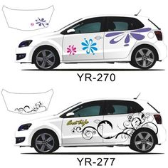 Decals for Your Car | Beautiful Flower Full Body Car Decal Sticker