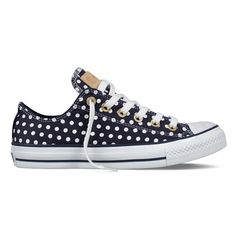 Converse All Star Bleach Polka Dot Navy White Cute Sneakers, Converse Sneakers, Converse All Star, Cute Shoes, Sneakers Fashion, Me Too Shoes, Pretty Shoes, Canvas Sneakers, Converse High