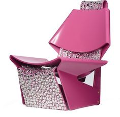 Pink Jalk Projec GJ Chair Designed by @Colin Cowie Weddings for @Swarovski  #PinkProject