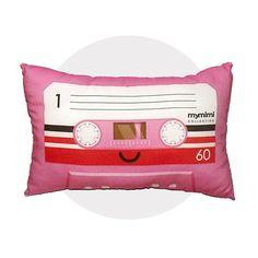 Pink Cassette Pillow.