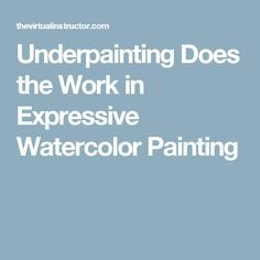 Learn how creating an expressive underpainting can lead to creating an expressive finished painting with watercolors. This video tutorial takes a look at expressive watercolor painting. Watercolor Video, Watercolor Painting Techniques, Watercolor Pictures, Watercolor Projects, Watercolour Tutorials, Watercolor Pencils, Painting Lessons, Painting Tips, Art Lessons