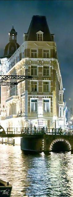 Vista del Hotel Europa, Ámsterdam Holanda