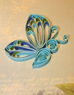 quilled butterfly technique