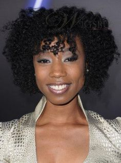 New Arrival Enisha Brewster Hairstyle Small Curly Black 100% Indian Human Hair Wig about 12 Inches : wigsbuy.com