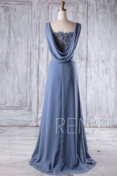 Blue Chiffon Bridesmaid Dress Wedding Dress Draped Back Prom Dress Illusion Lace V Neck Party Dress Beaded A-Line Formal 2017 Steel Blue Chiffon Bridesmaid Dress Lace V Neck Wedding Lace Bridesmaid Dresses, Blue Dresses, Prom Dresses, Formal Dresses, Wedding Dresses, Draped Dress, Lace Dress, Steel Blue Dress, Illusion Dress