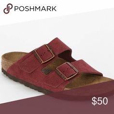 Maroon Suede Birkenstocks Maroon suede Birkenstocks in great condition. Birkenstock Shoes Sandals