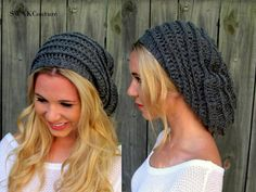 Slouchy Beanie Womens Hat Extra Slouchy Ribbed by SWAKCouture, $42.00