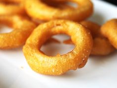 It's always difficult to decide whether to get onion rings or fries (get a combo if they'll let you!). Proper beer-battered onion rings, with a substantial crisp crust covering a sweet, tender, thick ring of onion, are one of life's three greatest pleasures (and the only one that can be enjoyed legally, incidentally), but how often do you get perfect rings? This recipe delivers.