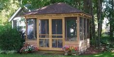 Image result for screened gazebo plans
