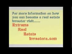 Learn how to invest in #realestate, flip real estate, wholesale, tax liens, #foreclosures, probate, abandoned property, short sales, hard money, owner #finance financing, no money down and much more!