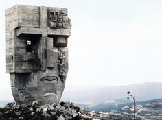Ernst Neizvestny and Kamil Kazaev [1996] The Mask of Sorrow/Grief, Magadan, Russia