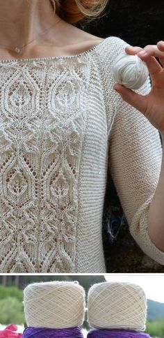 knit lace front sweater