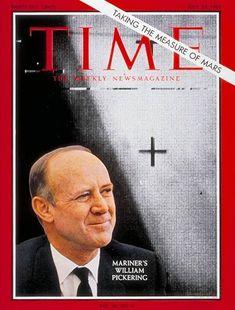   July 23, 1965 Time Magazine William Pickering. b.1910 - Wellington New Zealand