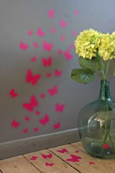 A Flutter Of Butterfly Wall Stickers