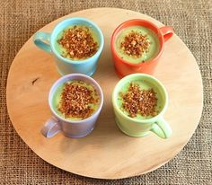 Chilled avocado soup with spicy breadcrumbs #EarthDay #food4thought