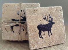 Country Home Decor Coasters Holiday Gift Ideas door ARusticFeeling