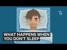 If you never get enough sleep and think you're getting by on 6 hours or less every night and you feel pretty much fine so you must be getting away with it this video should terrify you into shooting for the proper 8 hours a night. Every night. How To Get Sleep, How To Get Away, What Happened To You, What Happens When You, Body Tech, Meditation Apps, Sleep Deprivation, For Your Health, Human Body