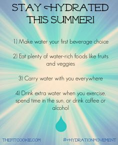 Tips for Staying Hydrated!  The Fit Cookie