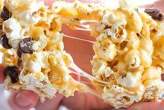 Peanut Butter & Marshmallow Popcorn Bars