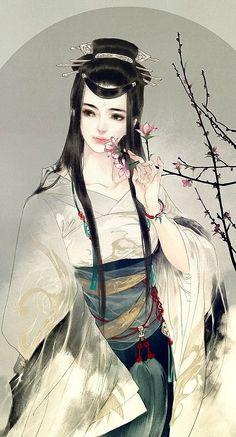 古代风 中国风 古装 古典美女 云中烛火,顾盼依稀如昨
