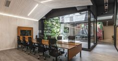 Fintech company Ualá recently hired architecture & interior design firm Hitzig Militello Architects to design their new office in Buenos Aires, Office Interior Design, Office Interiors, Palermo, Clean Space, Direct Lighting, Old Building, Main Entrance, Building Materials, Design Firms