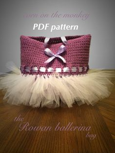 Pattern  the Rowan ballerina crochet bag by cornonthemonkey