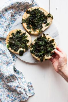 Nettle Flatbread | My Blue And White Kitchen