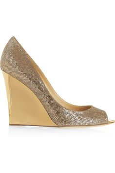 Jimmy Choo glitter and gold wedges - more comfortable than stilettos for wedding day?