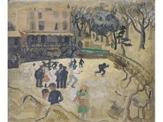 'Skating At Hampstead' by Christopher Wood, 1929 (oil on board) Peter Wood, Patrick Heron, Frozen In Time, Landscape Art, Painting On Wood, Book Art, Vintage World Maps, Abstract Art, Illustration Art