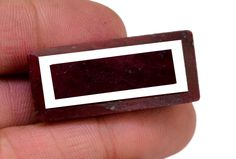 134ct Big Natural Faceted Rectangular Blood Red Ruby Loose Gemstone For Pendant