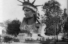 Unieke beelden van het vrijheidsbeeld in Parijs