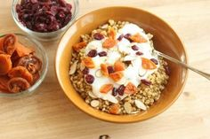 Warm Wheat Berry Breakfast Breakfast For Dinner, Breakfast Bowls, Breakfast Recipes, High Protein Breakfast, Breakfast Healthy, Oatmeal Recipes, Clean Eating Recipes, Healthy Eating, Recipe Of The Day