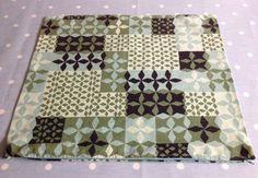 VTG fabric cushion cover Scandinavian lino cut woodblock 60s 70s retro material | eBay