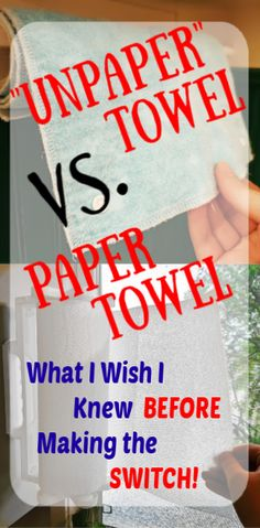 What to take into account before getting reusable paper towel. What I wish I knew before making the investment. Chemical Free Cleaning, I Wish I Knew, Going Natural, Frugal Tips, Natural Cleaning Products, Healthy Kids, Cleaning Hacks, Towel, This Or That Questions