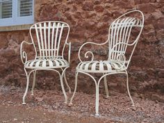 Antique French garden chairs