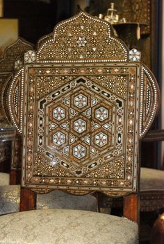 Syrian Inlaid Mother-of-Pearl Dining Chair image 3