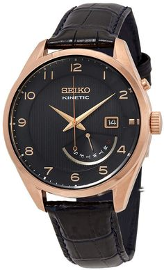 Buy and sell luxury watches on StockX including the Seiko Kinetic in Stainless Steel and thousands of other luxury watches from top brands. Rose Gold Watches, Black Watches, Days Of The Week Display, Seiko Watches, Luxury Watches, Stainless Steel Case, Buy And Sell, Quartz, Leather
