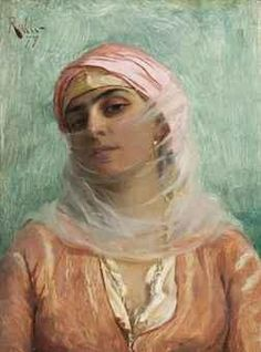"""Young Turkish Woman"" Theodoros Ralli - Greek painter, School of French Academy, orientalist Greek Paintings, Greek Art, Classical Art, Beautiful Paintings, Oeuvre D'art, Belle Photo, Art History, Modern Art, Illustration Art"