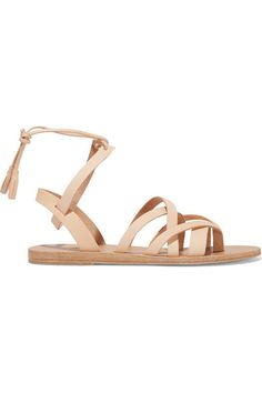VALIA GABRIEL Pink Gin Leather Sandals. #valiagabriel #shoes #sandals