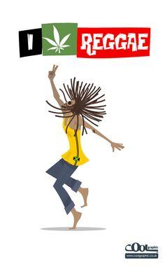 Rasta Guy: I love Reggae Children's Book Illustration, Retro Illustrations, Design Theory, Retro Vector, Religion, Bob Marley, Reggae, Childrens Books, First Love