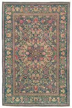 KASHAN, Central Persian 4ft 6in x 7ft 1in Circa 1900