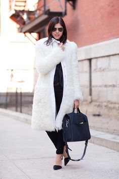 Emily Weiss of Into the Gloss wears black and white perfectly. Mr. Newton  - HarpersBAZAAR.com