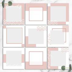 51 Best Ideas For Design Wallpaper Layout Instagram Feed Theme Layout, Instagram Feed Ideas Posts, Feeds Instagram, Instagram Grid, Instagram Frame, Instagram Post Template, Instagram Design, Web Responsive, Web Design