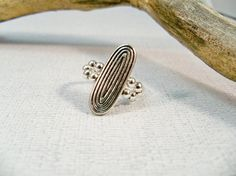 Stretch Band Ring  Antique Silver Ring  Cocktail Ring  by babbleon, $10.00